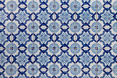 Portugis belägger med tegel Azulejo arkivbild