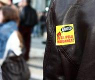 portugisen protesterar ungdommen Arkivfoton