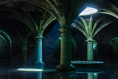 Portugisisk cistern Cistern för El Jadida, Marocko Forntida europeiska historiska byggnader i Marocko Arkivbilder