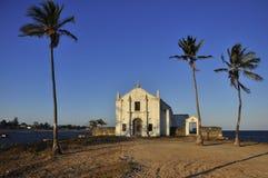 Portugisisk domkyrka på Ilha de Mocambique Arkivbilder