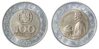 Portugisisk escudo för mynt Arkivbild