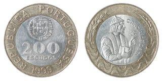 Portugisisk escudo för mynt Royaltyfri Fotografi