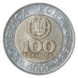 Portugisisk escudo för mynt Arkivbilder