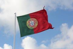 Portugisisk flagga Fotografering för Bildbyråer