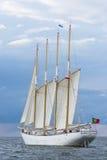 Portugisisk fyra-mast skonare Santa Maria Manuela Arkivbilder