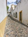 Portugisisk historisk sidogata fotografering för bildbyråer