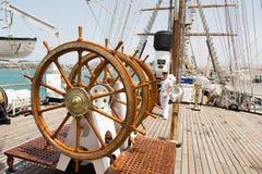 Portugisisk marinutbildningstallship Sagres III, Praia, Kap Verde Royaltyfri Foto