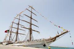 Portugisisk marinutbildningstallship Sagres III, Praia, Kap Verde Royaltyfri Fotografi