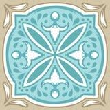 Portugisisk modell för keramisk tegelplatta för azulejo vektor illustrationer
