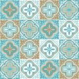 Portugisisk modell för keramisk tegelplatta för azulejo royaltyfri illustrationer