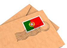 portugisisk stolpe Arkivbild