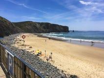 Portugisisk strand Royaltyfri Bild
