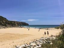Portugisisk strand Royaltyfria Bilder