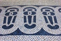 Portugisisk trottoar Arkivbild