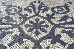 Portugisisk trottoar, calcadaportuguesa Arkivbilder