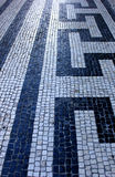 Portugisisk trottoar, Lisbon, Portugal Arkivfoto