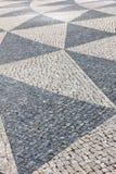 Portugisisk trottoar, Lisbon, Portugal Arkivbilder