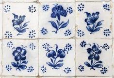 Portugisiska azulejos grundar i staden av Obidos Royaltyfria Foton