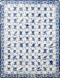 Portugisiska azulejos grundar i staden av Obidos Royaltyfri Fotografi