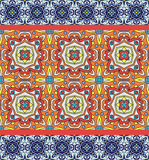 Portugisiska azulejotegelplattor Vit ursnyggt sömlöst för blått och royaltyfri illustrationer