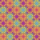 Portugisiska azulejotegelplattor Vit ursnyggt sömlöst för blått och vektor illustrationer