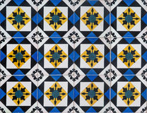 Portugisiska dekorativa tegelplattaazulejos Royaltyfri Foto