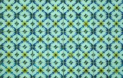Portugisiska dekorativa tegelplattaazulejos Fotografering för Bildbyråer