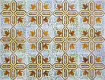 Portugisiska dekorativa tegelplattaazulejos Royaltyfri Fotografi