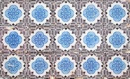 Portugisiska dekorativa tegelplattaazulejos Royaltyfria Bilder