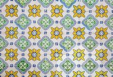 Portugisiska dekorativa tegelplattaazulejos Arkivfoton