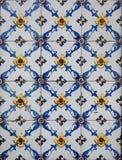 Portugisiska dekorativa tegelplattaazulejos Royaltyfria Foton