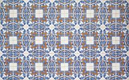 Portugisiska dekorativa tegelplattaazulejos Arkivbilder