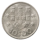10 portugisiska escudo Arkivbild