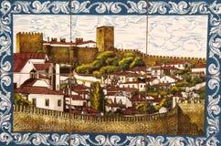 Portugisiska keramiska tegelplattor Royaltyfri Foto