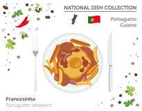 portugisiska såssnails för kokkonst Europeisk nationell maträttsamling Portugues royaltyfri illustrationer