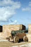 portugisiska skyddande ramparts för canons arkivfoton