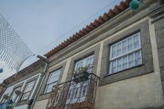 Portugisiskt husfönster Arkivbilder