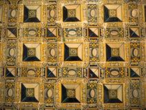 Portugistegelplattor på kloster av St Vincent Outside väggarna, Lissabon, Portugal Arkivfoton