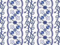 Portugués adornado tradicional y el brasileño teja azulejos Ilustración del vector ilustración del vector