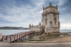 Portugués de la torre de Belém: Torre de Belém imagen de archivo libre de regalías