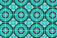 Português ornamentado tradicional Azulejos do fundo das telhas Fotografia de Stock Royalty Free