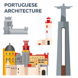 Portuguese Architcture. Travel to Portugal. Vector illustration. Stock Image