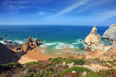Portuguese Atlantic coast Stock Images