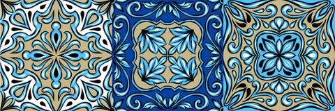 Portuguese azulejo ceramic tile pattern. stock illustration