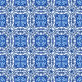 Portuguese azulejo ceramic tile pattern. Ethnic folk ornament. Mediterranean traditional ornament. Italian pottery, mexican talavera or spanish majolica stock illustration