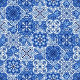 Portuguese azulejo ceramic tile pattern. royalty free illustration