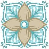Portuguese azulejo ceramic tile pattern. royalty free illustration