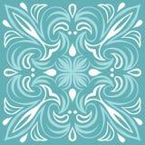 Portuguese azulejo ceramic tile pattern. Ethnic folk ornament. Mediterranean traditional ornament. Italian pottery, mexican talavera or spanish majolica stock illustration