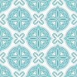 Portuguese azulejo ceramic tile pattern. Ethnic folk ornament. Mediterranean traditional ornament. Italian pottery, mexican talavera or spanish majolica royalty free illustration