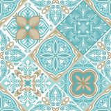Portuguese azulejo ceramic tile pattern. stock illustration
